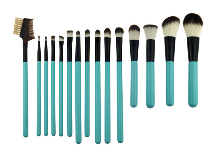 345g Professional Makeup Brush Set With Black Ferrule Blue Handle