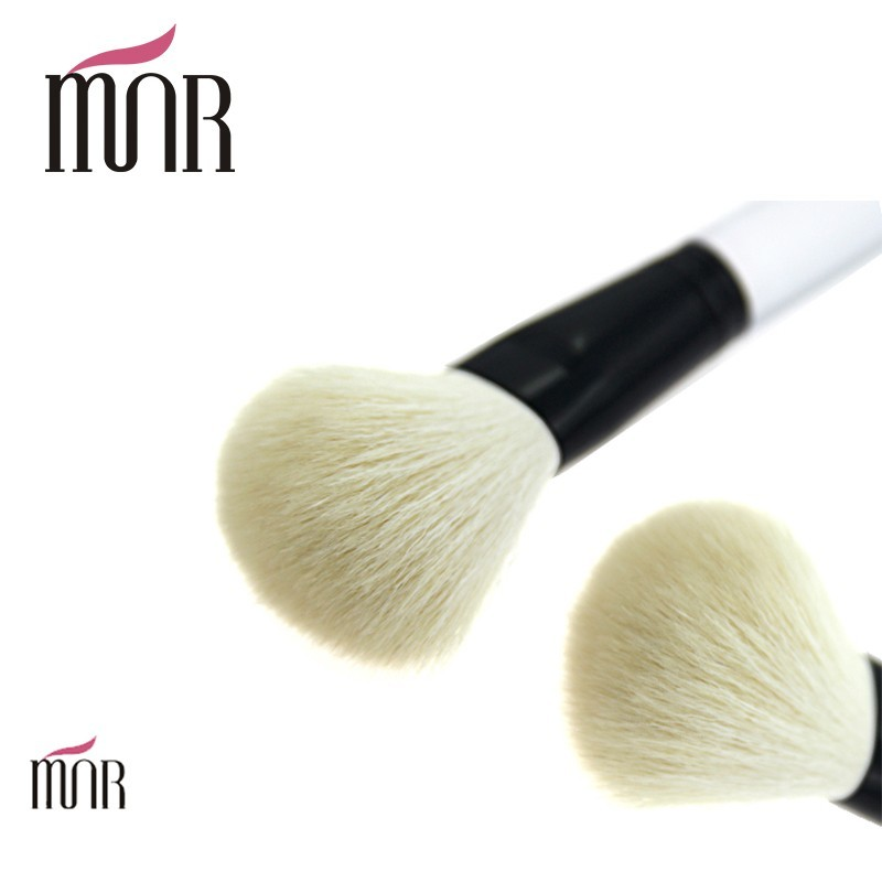 Natural Professional Makeup Brush Set 115mm Goat Hair Soft Bristles Blush Brush