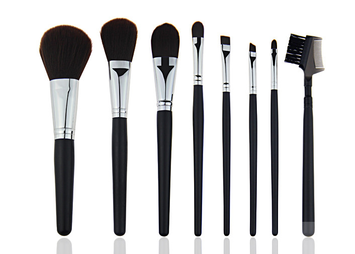 Eco Friendly Travel Private Label Makeup Brushes with Lip Brush and Concealer Brush