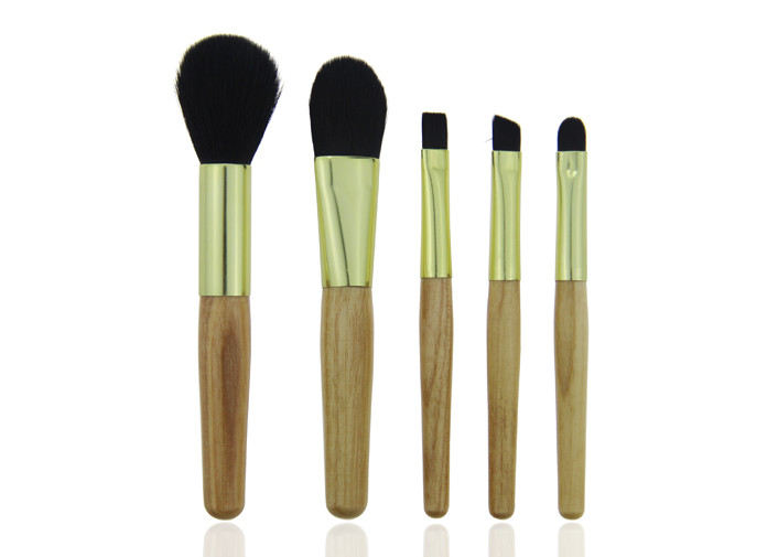 Portable Travel Makeup Brush Set / Foundation Makeup Brush , Bamboo Handle