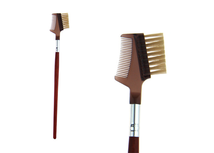 Red Nylon Hair Eye Brow Brush Eyelash Comb Essential Tools Makeup Brushes
