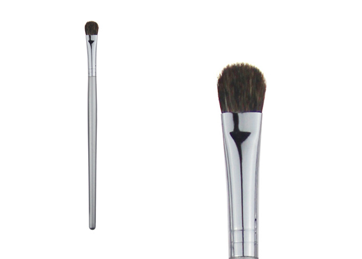 Small Silver Eyeshadow Blending Brush Natural Bristle Hair Brush For Eye Makeup