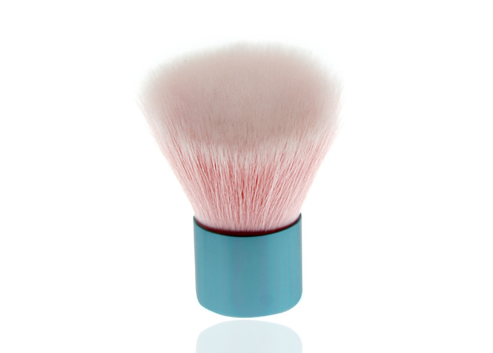 Colorful Private Label Makeup Kabuki Face Brush , Beauty Flat Top Kabuki Brush