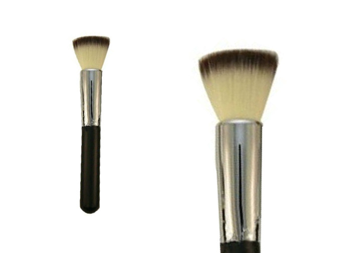 Custom Flat Mineral Buffer Powder Makeup Brush For Face , Eco Friendly